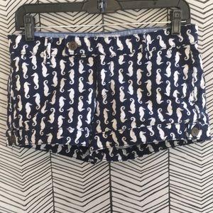 Pants - Cute blue seahorse shorts size 7 juniors